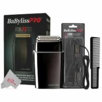 Babyliss Pro Foilfx02 Cordless Metal Black Double Foil Shaver + Powercord + Comb - 1