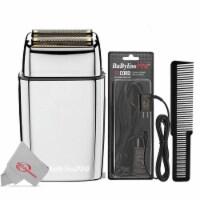 Babyliss Pro Foilfx02 Cordless Metal Silver Double Foil Shaver, Powercord + Comb