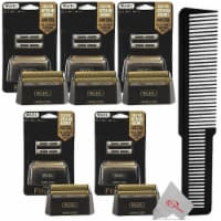 Five Packs Wahl 5-star Shaver Replacement Foil Finale Black 07043 + Styling Flat Top Comb