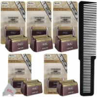 Five Packs Wahl 5-star Shaver Replacement Foil & Cutter 7031-100 + Flat Comb
