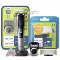 Philips Norelco Oneblade Pro Hybrid Electric Trimmer And Shaver With 1 Pack Replacement Blade - 1