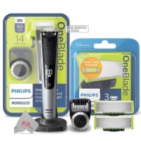 Philips Norelco Oneblade Pro Hybrid Electric Trimmer And Shaver With 2 Pack Replacement Blade - 1