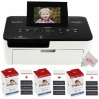 Canon Selphy Cp1000 Compact Colored Photo Printer + 3 Packs Color Ink 4x6 Paper Set 3115b001 - 1