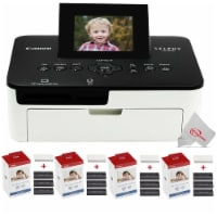 Canon Selphy Cp1000 Compact Colored Photo Printer + 4 Packs Color Ink 4x6 Paper Set 3115b001 - 1
