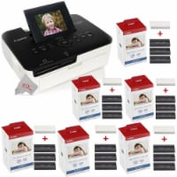 Canon Selphy Cp1000 Compact Colored Photo Printer + 6 Packs Color Ink 4x6 Paper Set 3115b001 - 1