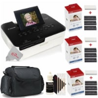 Canon Selphy CP1000 Compact Colored Photo Printer + 2pc Paper Set Accessory Kit - 1