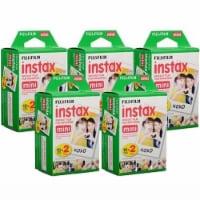 Fujifilm Instax Mini Instant Film 2x10 5 Packs (100 Shots) - 1