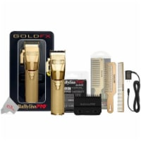 Babyliss Pro Fx870g Cordless Clipper Gold + Replacement Blade Bundle