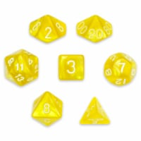 7 Die Polyhedral Set in Velvet Pouch, King's Ransom