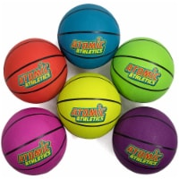 Brybelly SBAL-401 6 Regulation Size Neon Basketballs - 1