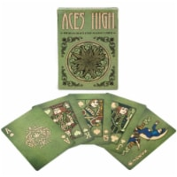 Aces High Green Playing Cards