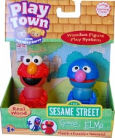 Sesame Street Play Town Learning Curve Real Wood 2pk Grover & Elmo