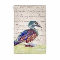 Betsy Drake KT149B Female Wood Duck Kitchen Towel - 1