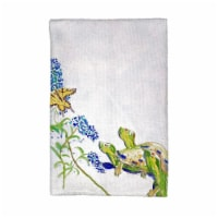Betsy Drake KT178 Turtles & Butterfly Kitchen Towel
