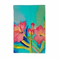 Betsy Drake KT233 Pink Amaryllis Kitchen Towel