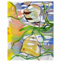 Betsy Drake PM305 14 x 18 in. Angel Fish Place Mat - Set of 4