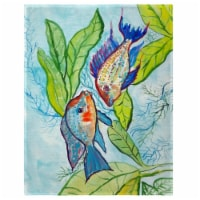 Betsy Drake PM642 14 x 18 in. Pair of Fish Place Mat - Set of 4