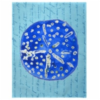 Betsy Drake PM989 14 x 18 in. Blue Sand Dollar Place Mat - Set of 4