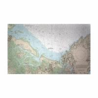 Betsy Drake DM13279EXG 30 x 50 in. Essex Bay & Essex River, MA Nautical Map Door Mat