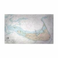 Betsy Drake DM13241NIG 30 x 50 in. Nantucket Island, MA Nautical Map Large Door Mat - 1
