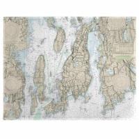 Betsy Drake PM13221NP 14 x 18 in. Narragansett Bay, RI Nautical Map Place Mat - Set of 4
