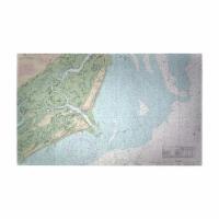 Betsy Drake DM11517G 30 x 50 in. Fripp Island, SC Nautical Map Large Door Mat - 1