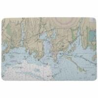 Betsy Drake DM13214ST 18 x 26 in. StoninKTon Harbor, CT Nautical Map Door Mat - 1