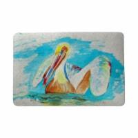 Betsy Drake DM715 18 x 26 in. Pelican in Teal Door Mat
