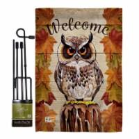 Breeze Decor BD-BI-GS-105052-IP-BO-D-US18-BD 13 x 18.5 in. Owl Watching Garden Friends Birds