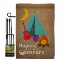 Breeze Decor BD-OU-GS-109045-IP-BO-D-US14-BD 13 x 18.5 in. Happy Campers Nature Outdoor Impre