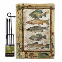 Breeze Decor BD-OU-GS-109056-IP-BO-D-US18-SB 13 x 18.5 in. Fishing Adventures Nature Outdoor