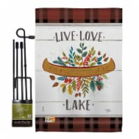 Breeze Decor BD-OU-GS-109073-IP-BO-D-US18-WA 13 x 18.5 in. Live Love Lake Nature Outdoor Impr