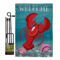 Breeze Decor BD-SM-GS-107026-IP-BO-D-US09-BD 13 x 18.5 in. Lobster Coastal Sea Animals Impres