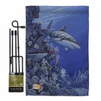 Breeze Decor BD-SM-GS-107050-IP-BO-D-US16-AL 13 x 18.5 in. Shark Reef Coastal Sea Animals Imp