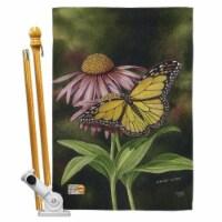 Breeze Decor BD-BG-HS-104086-IP-BO-D-US16-AL 28 x 40 in. Coneflower Garden Friends Bugs & Fro - 1