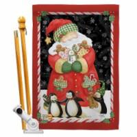 Breeze Decor BD-XM-HS-114105-IP-BO-D-US14-AM 28 x 40 in. Santa & Cookies Winter Christmas Imp - 1