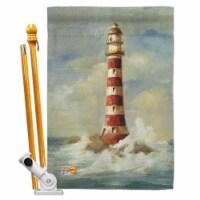 Breeze Decor BD-NA-HS-107060-IP-BO-D-US18-WA 28 x 40 in. Lighthouse by the Sea Coastal Nautic