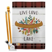 Breeze Decor BD-OU-HS-109073-IP-BO-D-US18-WA 28 x 40 in. Live Love Lake Nature Outdoor Impres