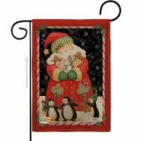 Breeze Decor BD-XM-G-114105-IP-DB-D-US14-AM 13 x 18.5 in. Santa & Cookies Burlap Winter Chris - 1