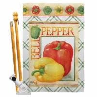 Breeze Decor BD-VG-HS-117040-IP-BO-D-US17-AM 28 x 40 in. Bell Pepper Food Vegetable Impressio