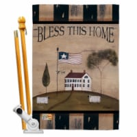 Breeze Decor BD-SH-HS-100043-IP-BO-D-US12-SB 28 x 40 in. Welcome Bless This Home Inspirationa - 1