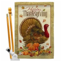 Breeze Decor BD-TG-HS-113049-IP-BO-D-US12-AM 28 x 40 in. Thanksgiving Turkey Fall Impressions - 1