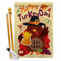 Breeze Decor BD-TG-HS-113065-IP-BO-D-US17-BD 28 x 40 in. Happy Turkey Day Fall Thanksgiving I - 1