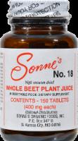 Sonne's No.18 Whole Beet Plant Juice - 150 CT