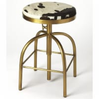 Butler Specialty Adjustable Bar Stool in Black and Gold - 1