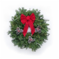 Dutchman Tree Farms Fraser Fir Decorated Fresh 22 Inch Wreath