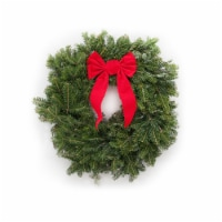 Dutchman Tree Farms Fraser Fir Fresh 22 Inch Wreath With Bow