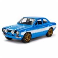 Brians Ford Escort MK1 - Fast & Furious 6 Diecast Car - Blue & White - 1