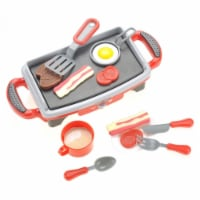 Breakfast Griddle Electric Stove Play Food Kitchen Grill Set for Kids - 1