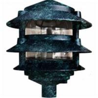 P-D5000-10T-VG 10 in. 3-Tier Pagoda Light, Verde Green